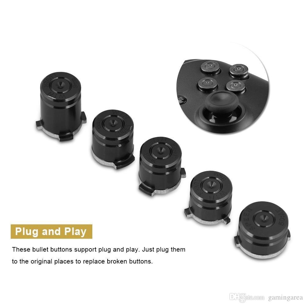 aluminium Metal Bullet Button 9mm Luger ABXY and Speer Guide Buttons set for xbox one controller High Quality FAST SHIP