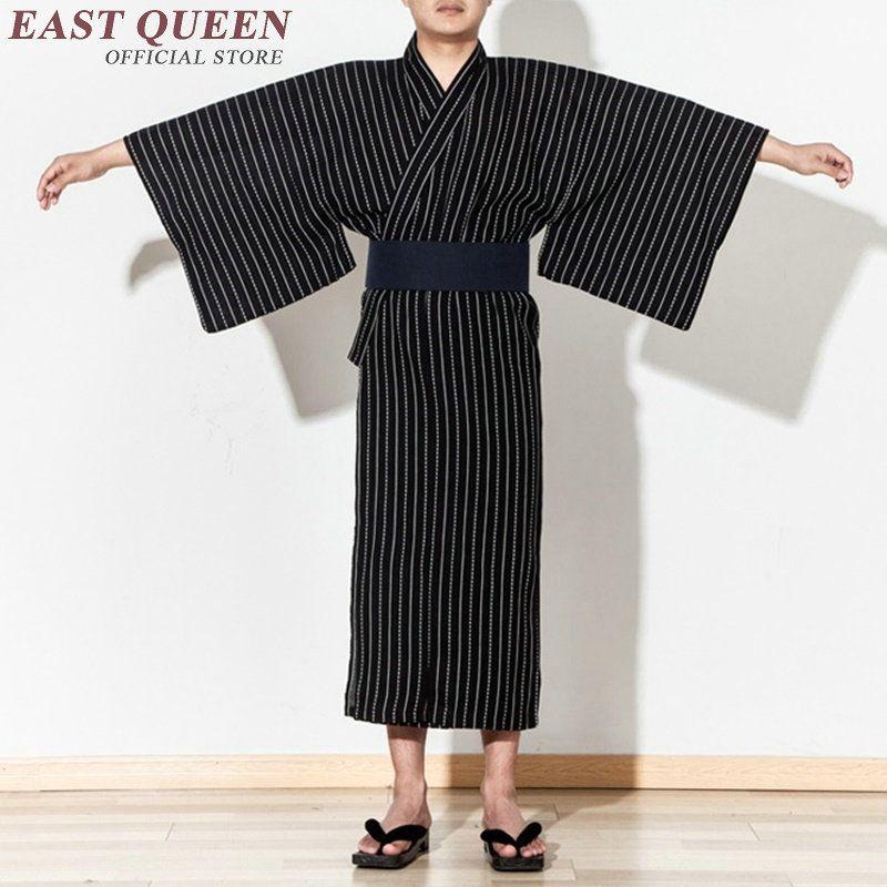 533d3567a Ropa samurai traje yukata hombres ropa tradicional japonesa kung fu kimono  hombres haori obi japón kimono hombres KK1015 Y