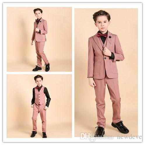 18275601f 2018 Design Boy Formal Wear Polyester Children Wedding Groom Suits ...