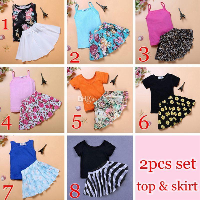 22545f495 8styles Ins Summer Girls Blue Tops Tees   Girls Floral Full Print Skirts  Set 1-6years Free Ship Boys 2pc Set Suspender Shorts Set Boys Bow Tshirt  Set Online ...