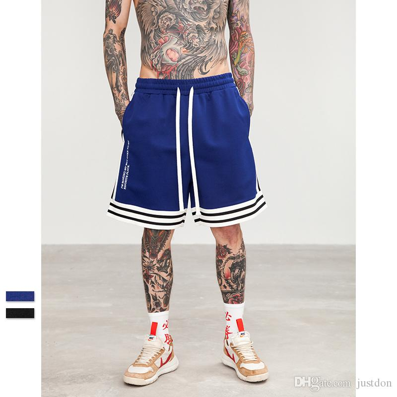 8bf7c999a47 Justdon New Men s Swingman Basketball Shorts Side Stripe Relaxed Drop  Crotch Short Highstreet Vintage Style Casual Mens Elastic Waist Pants