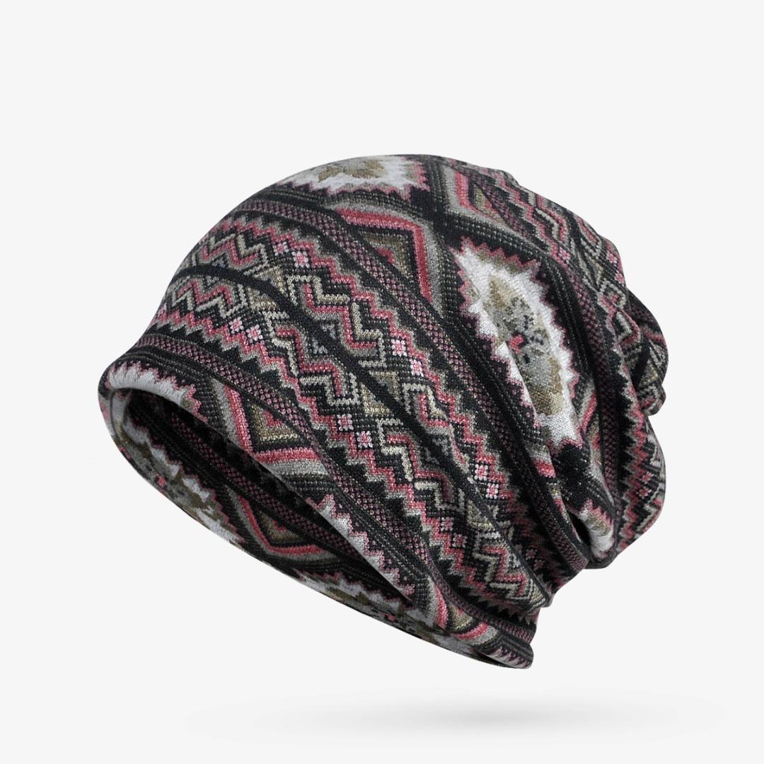 Winter Hat Cap Women Dual-Use Men Cap Neck Warm Stripes Skullies ... 5092aa57bf8f