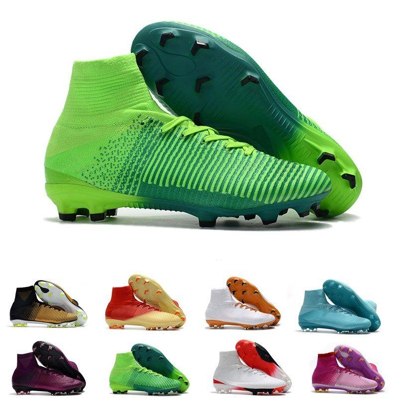 2019 Mens Mercurial Superfly CR7 V AG FG Football Boots Ronaldo High Ankle  ACC Soccer Shoes Neymar JR Phantom Soccer Cleats From Jackyrunshoes e55f61fb3