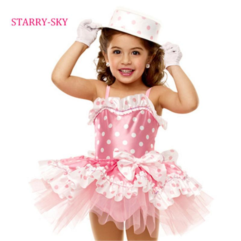 f8671af82596 2019 New Ballet Dress For Girls Children Dance Costumes Cute Dot ...