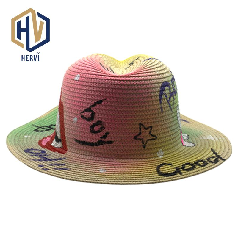 2018 Top Brand Wholesale Sun Shade Simple Women Hat Ladies Casual Straw Hat  Beach Female Summer Hats Chapeu Dropshipping BQ34 A Mens Hats Floppy Hat  From ... ae0e91961e0