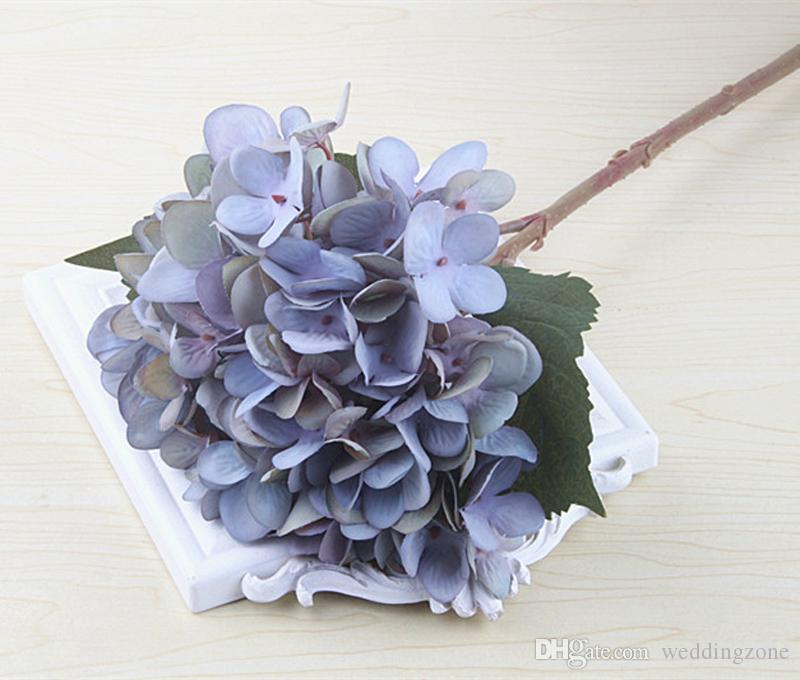 Sample Link: Artificial Silks Hydrangea Simulation Single Branch Silk Hydrangeas For Wedding Centerpieces Home Decorative Flowers