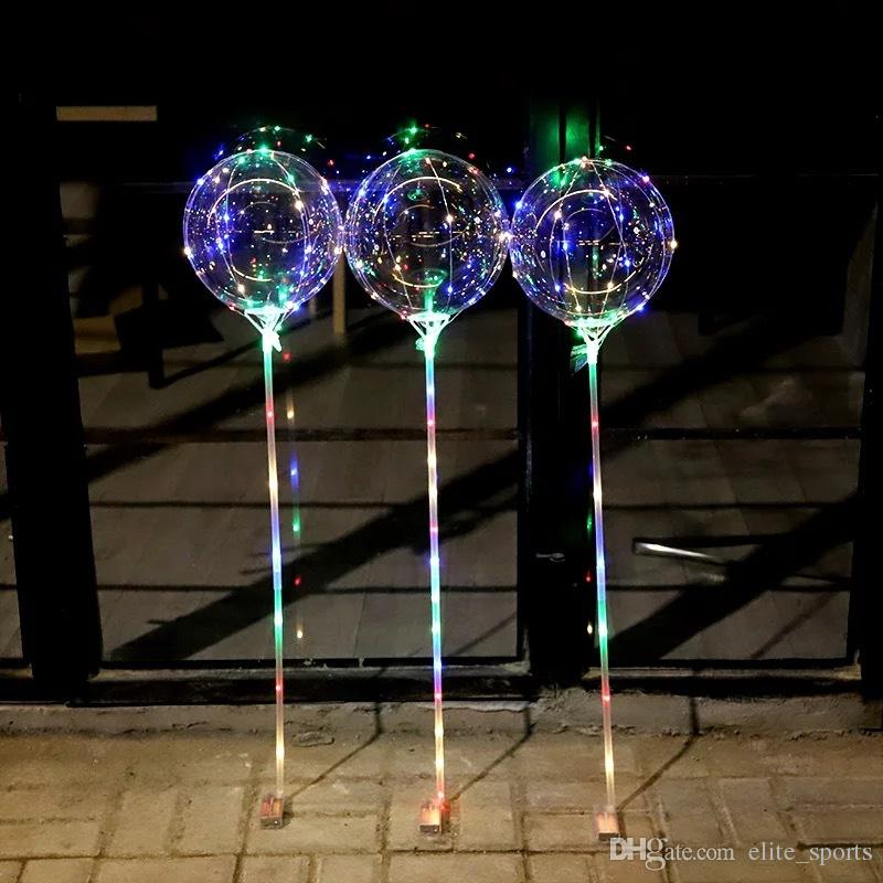 Nouveau ballon de lumière LED LED ballon de lumière avec bâtons de mariage de bâton