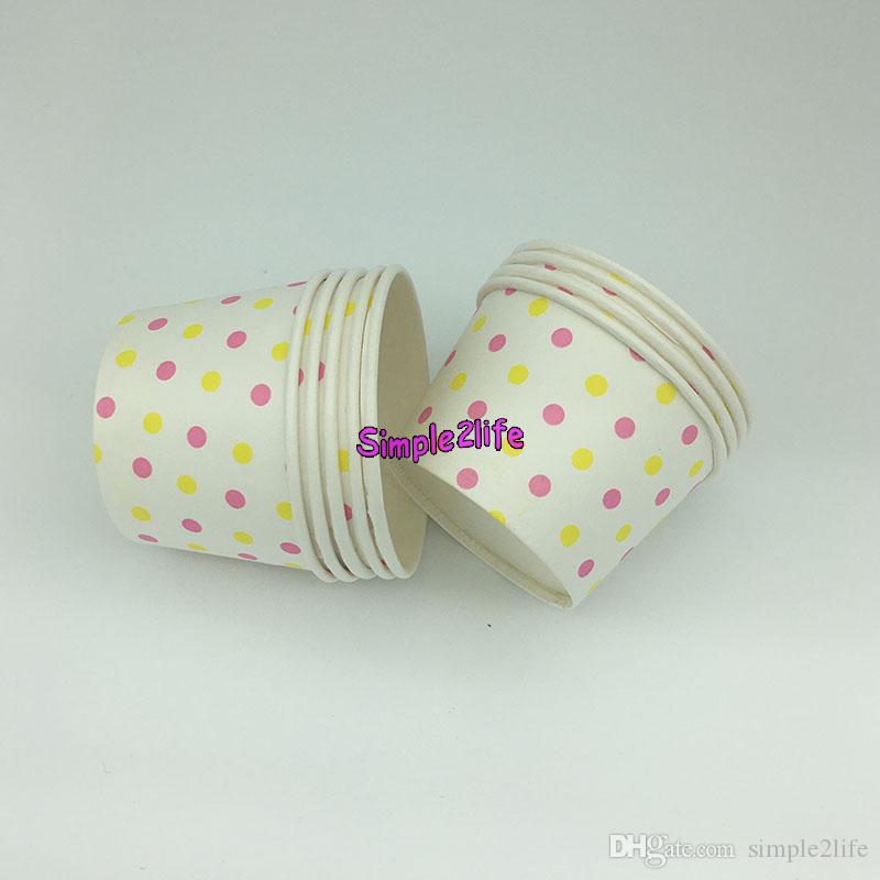 1200pcs Round polka dot paper cupcake case ice cream cup, candy cup &containers no cover mixed color