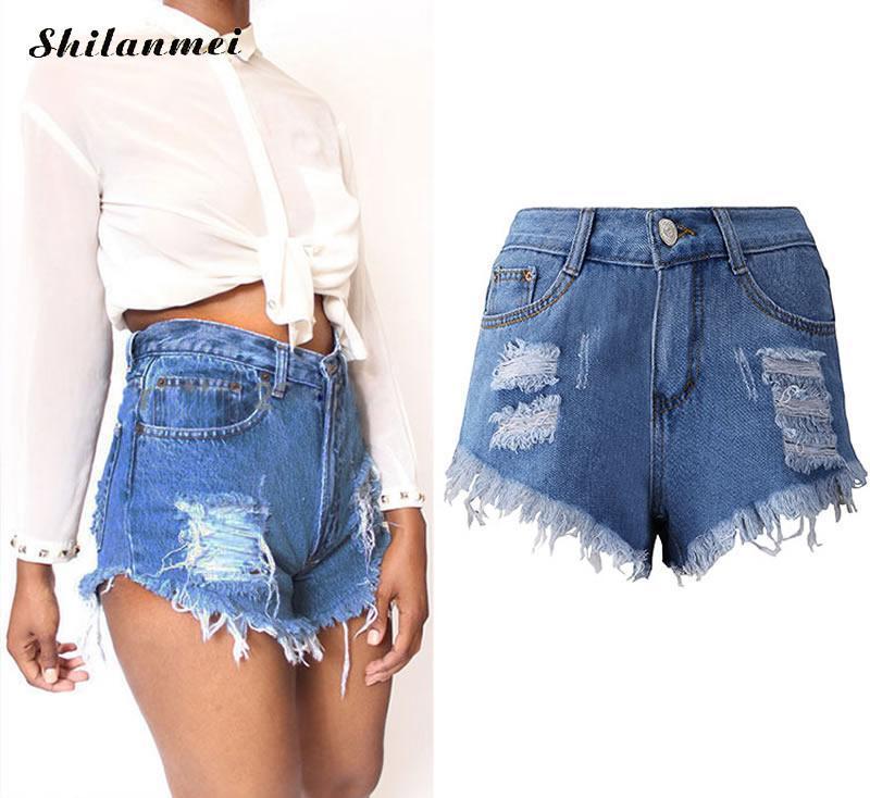 de2e05354e 2019 Cotton Denim High Waist Jeans Shorts Femme Miracle Tassel Frayed Short  3XL 2XL XL Academia Mulheres Summer Fitness Jean Shorts From Hiem, ...