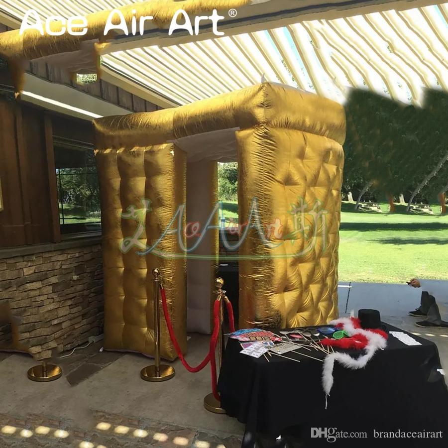 stand / fond Extravagant photo secteur gonflable or, cabinet foto, photographe privé avec des lumières led pour la location de mariage et partie