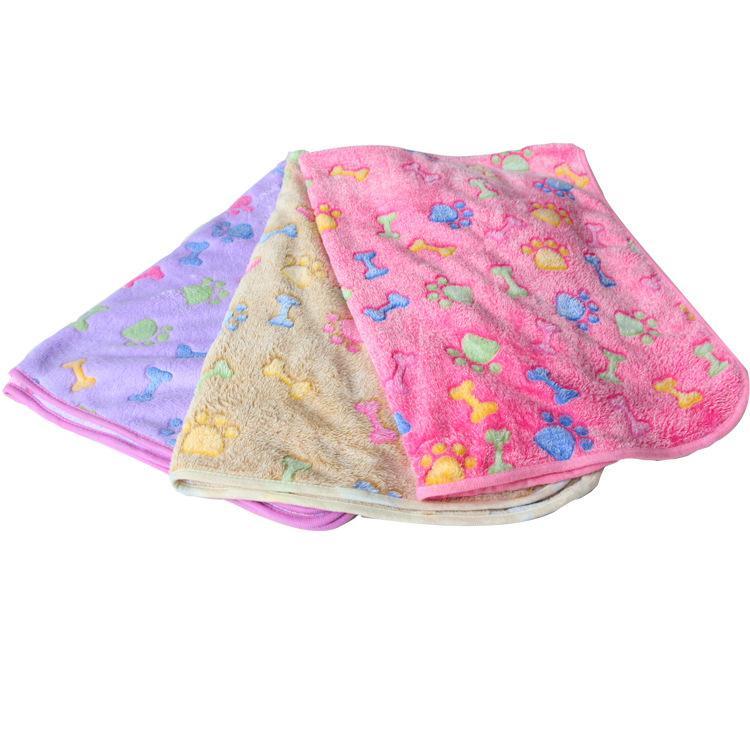 Blanket Pet pata Cobertores para Pet Cat Hamster e cão macio morno cama cobrir cobertores de lã Mat