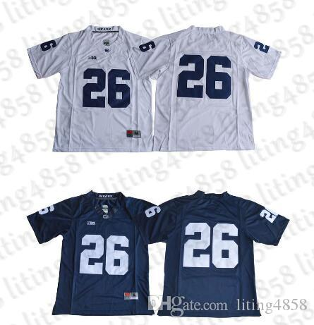quality design 1f492 4b6de 26 Saquon Barkley 2017 Penn State Nittany Lions Jersey No Name Navy Blue  White College Football Jerseys Stitched S-XXXL Mixed Order