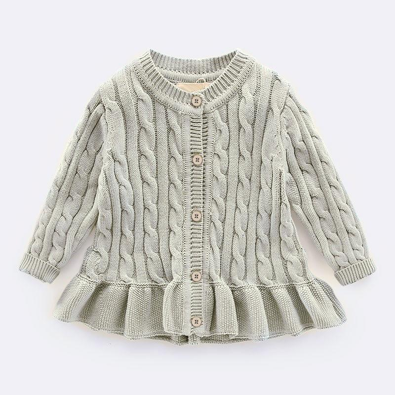 4a62a33fe Baby Winter Cardigan for 1-8 Yrs Simple Thick Warm Kids Sweaters ...