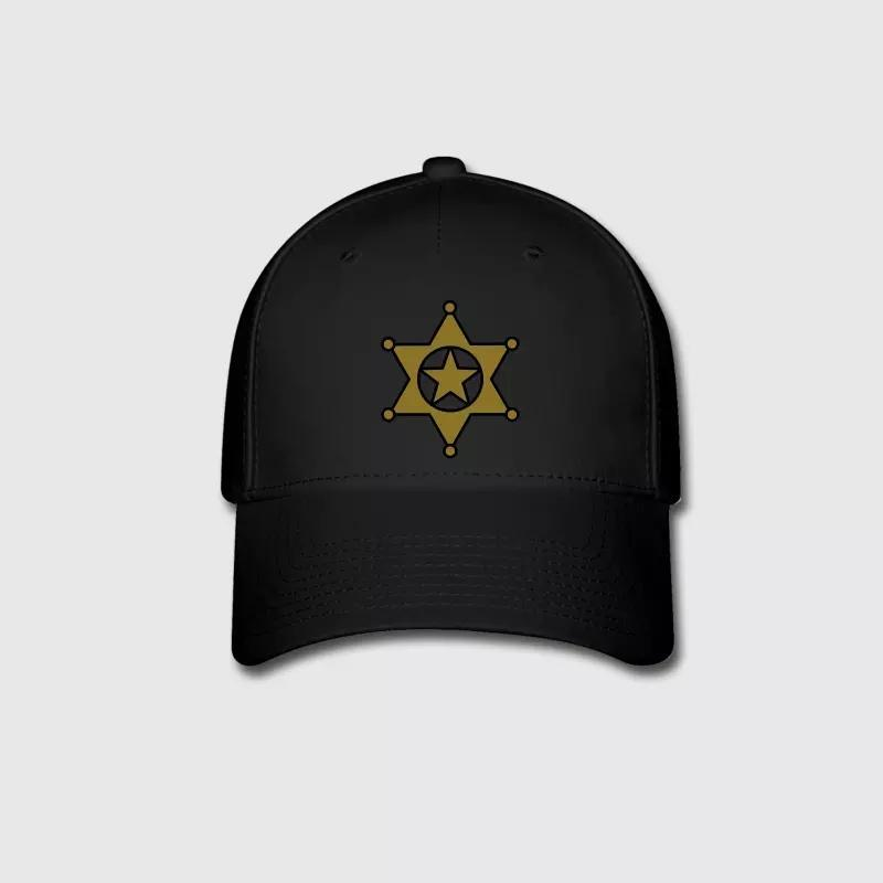 d2f9bb288cf39 Sheriff Star Graphic Embroidery Customized Handmade Badge Boss Captain  Commander Cowboys Emblem Cotton Curved Dad Hat Baseball Cap Flat Cap From  Wdrf