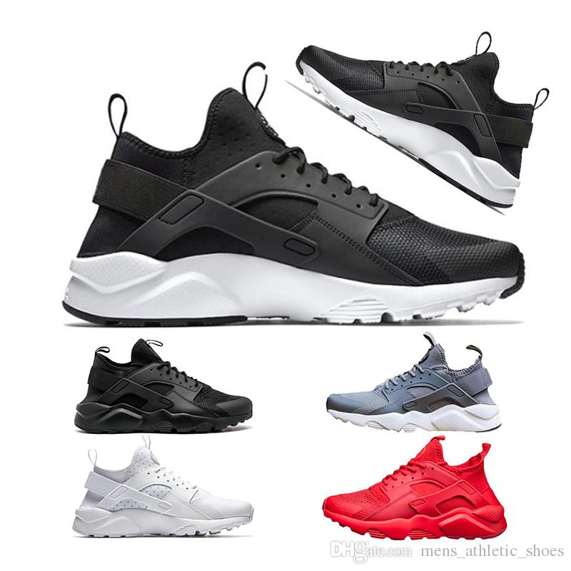 40fba381e5d Luxury Trainers Huarache 4.0 1.0 Running Shoes Men Sneakers Women Designer  Shoes Off Black White Gold Red Grey Sports Shoes Hurache Womens Running  Shoes ...