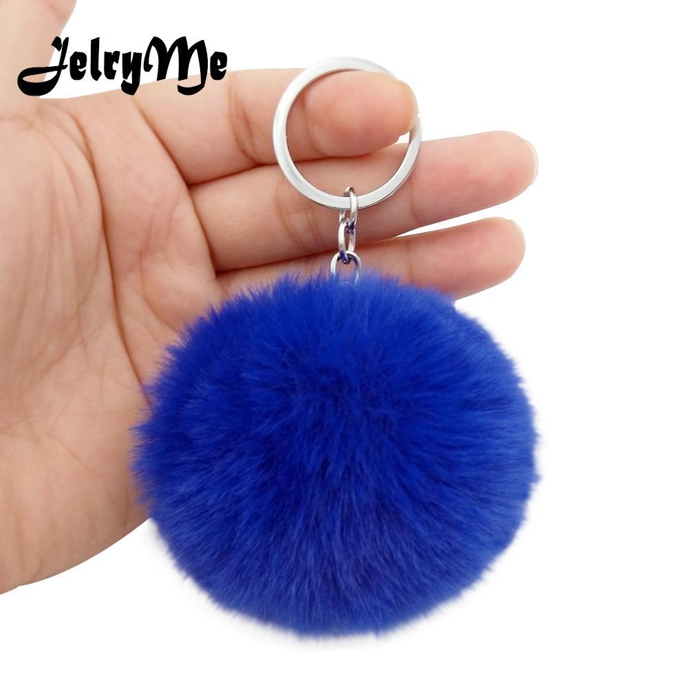 405278eff0 Fluffy Fur Pom Pom Keychains Soft Faux Rex Rabbit Fur Ball Car Keyring  Pompom Key Chains Women Bag Pendant Jewelry Diy Leather Key Fob Keychain  Wallet From ...