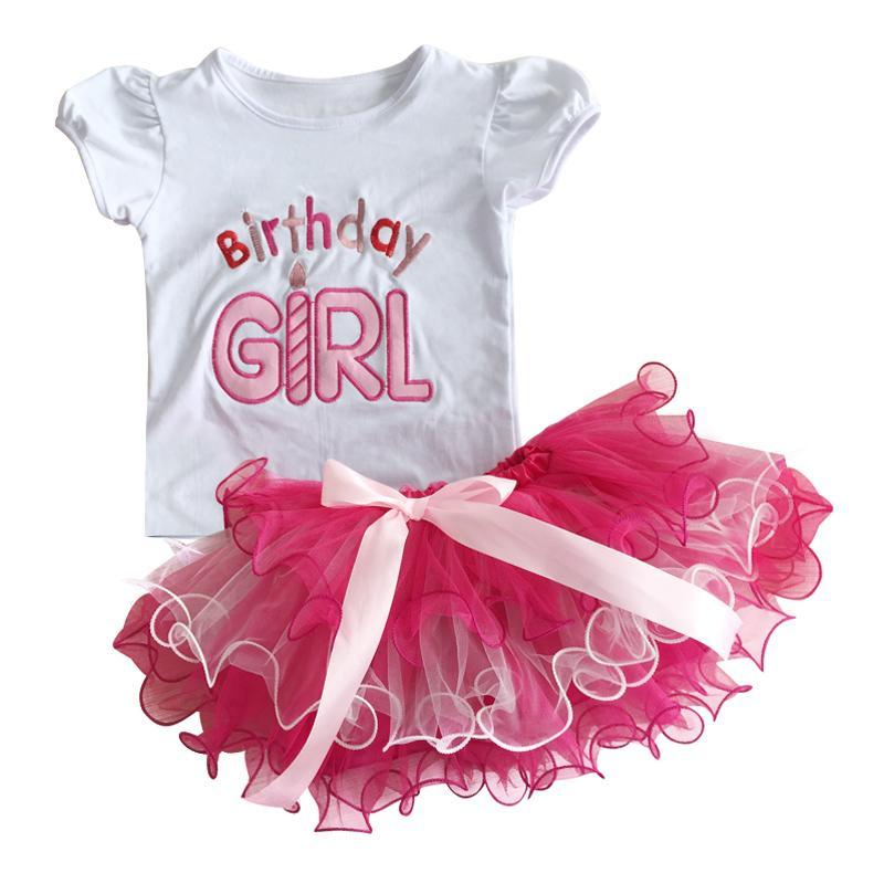 2019 Newborn Baby Girls Clothes 1 2 Years Birthday Sets White Shirt Tutu Skirt Cake Smash Outfits Infant Clothing From Oliveer
