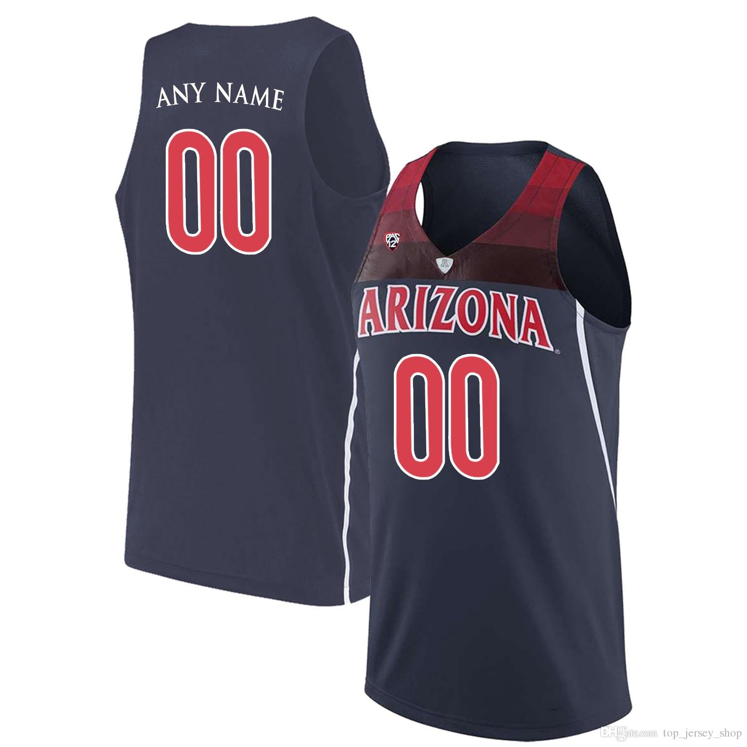 39657632a 2019 Men Customized Arizona Wildcats College Jersey Custom Made Any Name  Number Stitched Navy Blue White Red STITCHED Basketball Jerseys Cheap From  ...