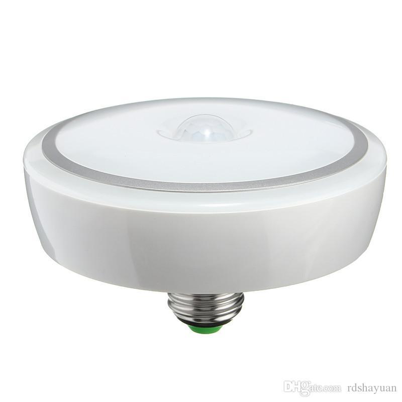 Acquista E27 12w Led Pir Smart Led Lighting Lampada Da Soffitto Con