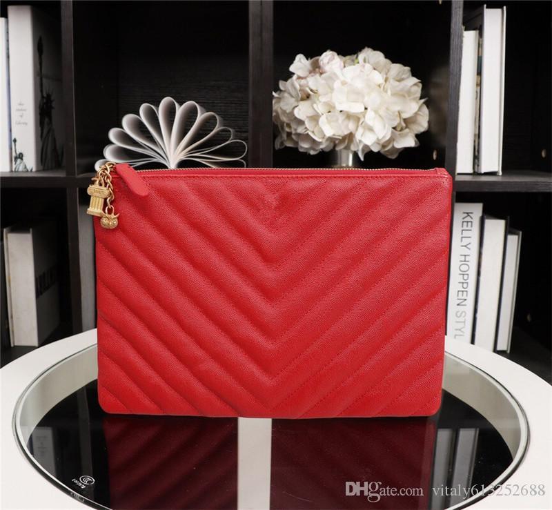 ae64ab0d97 Top Quality France Paris Style Royal Designer Famous Size 28cm Brand Men  Women Luxury Clutch Bag Purse Handbag Cute Purses Shoulder Bags For Women  From ...
