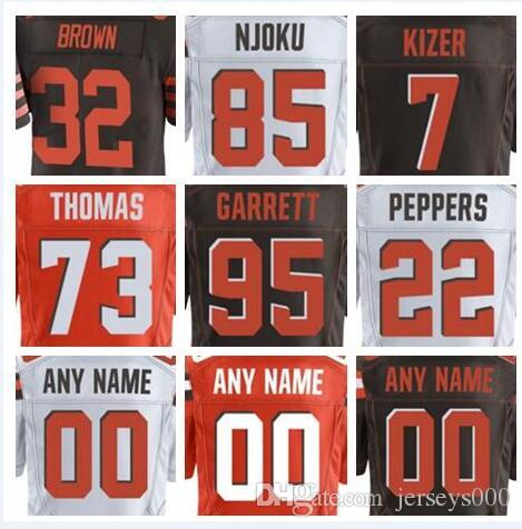 8d1dd64e5 2018 Cleveland Jim Brown Jersey Brown Leroy Kelly Jabrill Peppers ...