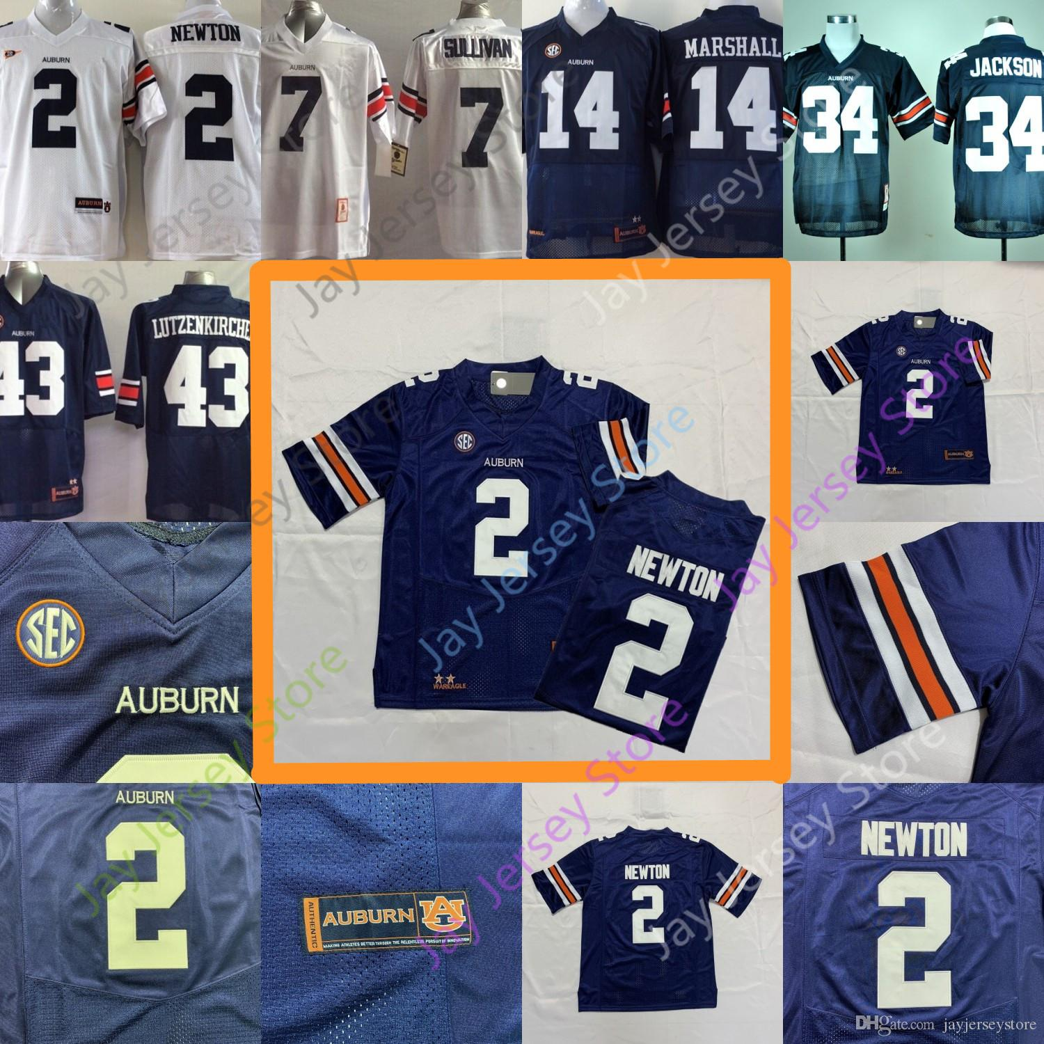 c7f658de180 ... new zealand 2018 college auburn tigers jerseys 2 cam newton 7 pat  sullivan 14 nick marshall