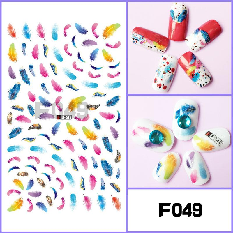 BYX DIY Personality Trend Nail Accessories 10 Pieces New Halloween 3D Nail Stickers Full Stickers Fashion Jewelry Decals