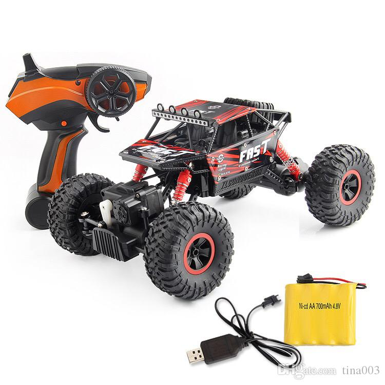 2018 New RC Car 1/18 Scale High-speed Remote Control Car Off-Road 4WD Big wheel Radio Controlled Electric Vehicle