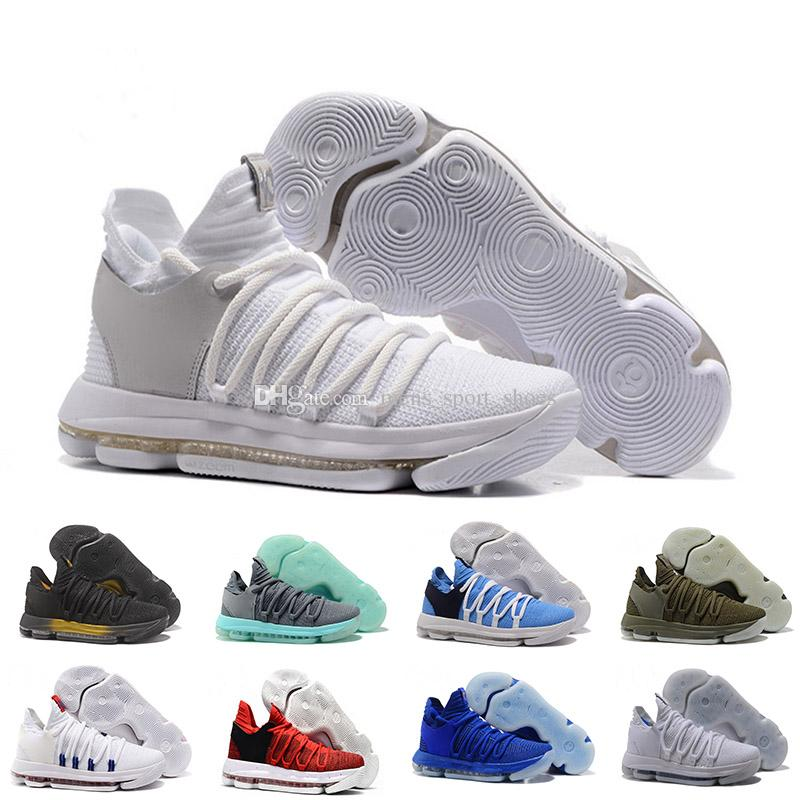 37b167ca03cc9 2019 Men Basketball Shoes New Zoom KD 10 Anniversary University Red Still  Kd Igloo BETRUE Oreo USA Kevin Durant Elite KD10 Sport Sneakers KDX From ...