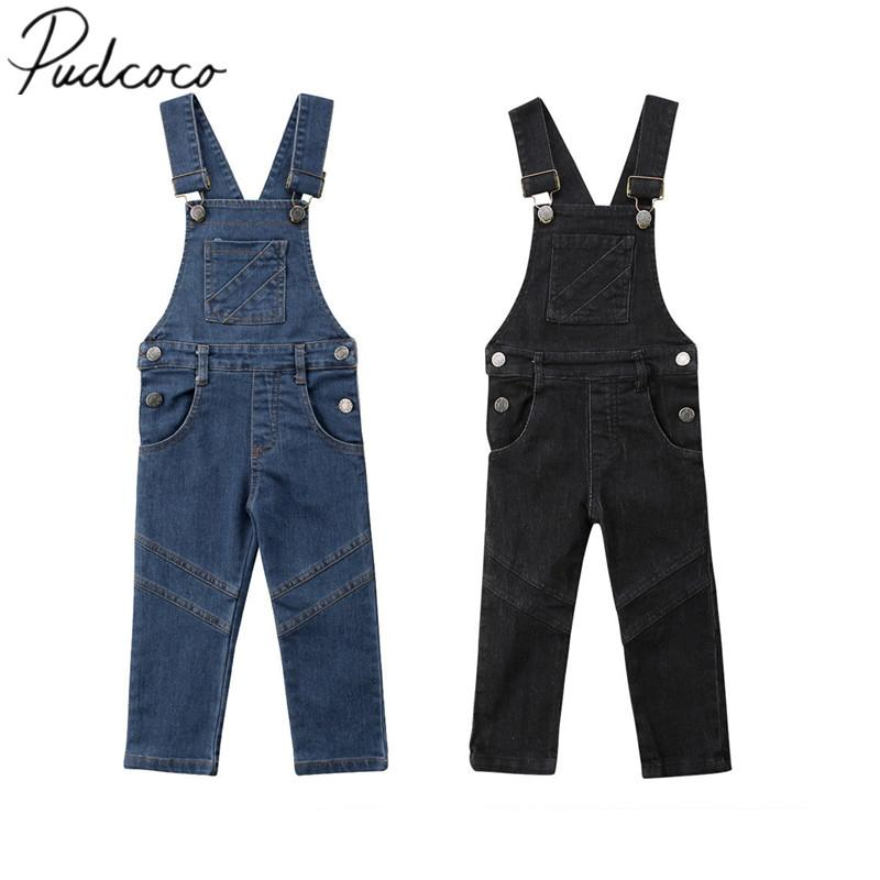 2f7b1561abf 2019 2018 Brand New Infant Kids Baby Girls Boys Toddler Trousers Dungaree Overall  Jumpsuit Playsuit Jeans Outfits Casual Clothes 1 6T From Humom