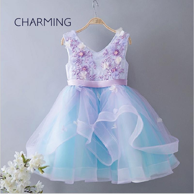 45420cd5b1b9 Mini Dresses V Neck Wedding Dresses Suitable For Flower Girls Dresses For  Weddings Beaded Ball Gown Wedding Dress 3d Floral Wedding Dress Girl  Bridesmaid ...