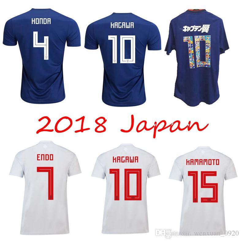f192dcf611c8 2018 Japan Soccer Jerseys World Cup Home Away ATOM 10 CARTOON NUMBER KAGAWA  NAGATOMO 18 19 Japan National Football Team Top Quality Shirts UK 2019 From  ...