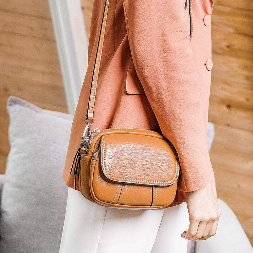 b3724a8cf01c FoxTail   Lily Brand Genuine Cow Leather Mini Shoulder Messenger Bag Luxury  Designer Purses Handbags Ladies Small Crossbody Bags Rosetti Handbags Name  Brand ...