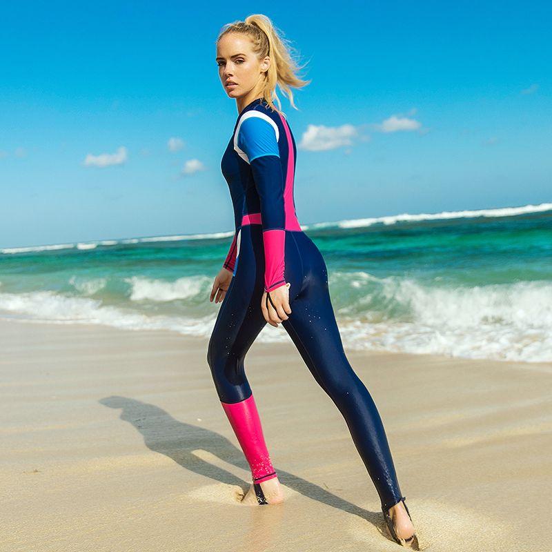 8c223be621596 2019 Women One Piece Suit Quick Dry Swimwear Surfing Spearfishing Swimsuits  Jumpsuit Padded Scuba Dive Skin Triathlon Wetsuit Drop Shipping H From  Walkermen ...