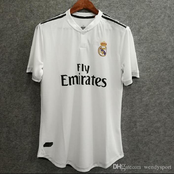dafaf04b4 2019 18 19 REAL Madrid Home Player Versi Soccer Jersey Asensio SERGIO  MODRIC RAMOS MARCELO BALE ISCO Camiseta KROOS Football Shirts From  Wendysport