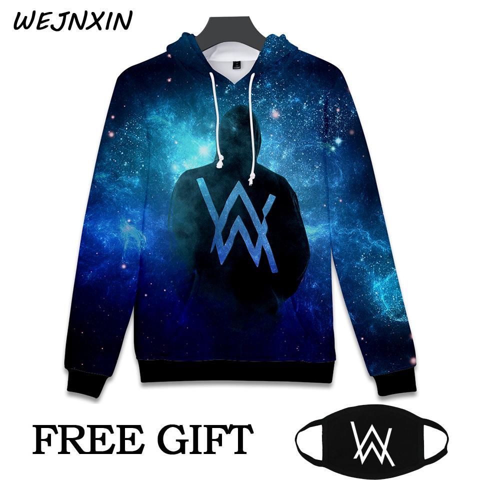 9d1b2b3a1ea 2018 New Arrival Alan Walker DJ Hooded Sweatshirt With Free Mask Gift 3D  Printing Hip Hop Hoodies Unisex Moletom Masculino Y18102902