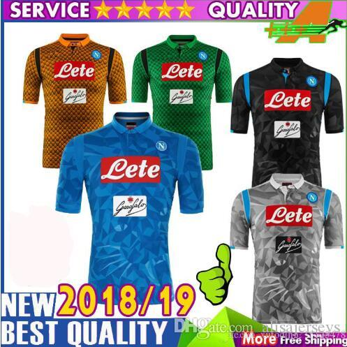 8077cbfb3 Compre 2018 Adultos Camisa Napoli 2019 Homens Camisas Melhor Qualidade  Nápoles ZIELINSKI HAMSIK INSIGNE MERTENS CALLEJON T Shirt Frete Grátis De  ...