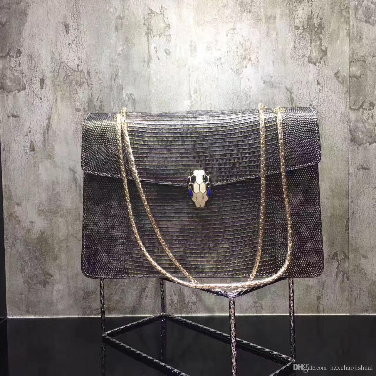 2018 B Home Leather Color A Retro Snake Head Package Chain Leather Vintage Bag Shoulder Messenger B