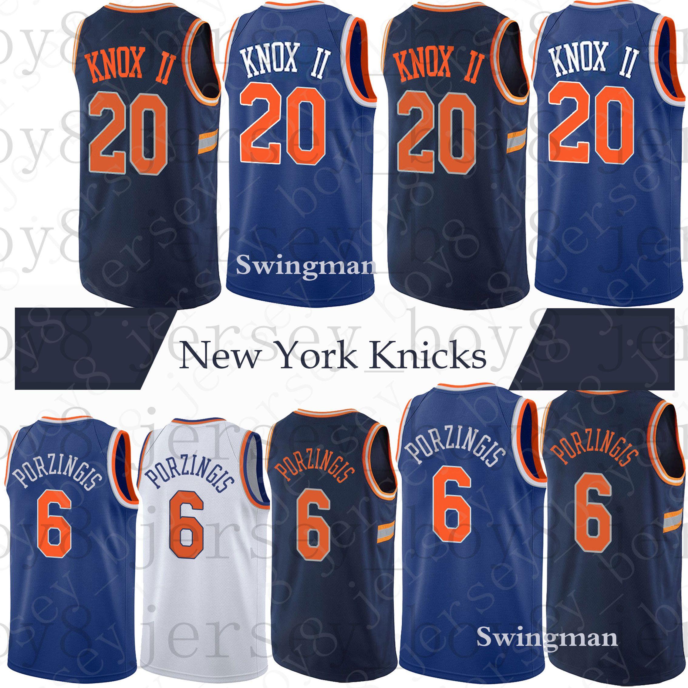 50850c02751 ... czech new york knicks jerseys 6 kristaps porzingis 20 kevin knox 2018  new mens new york