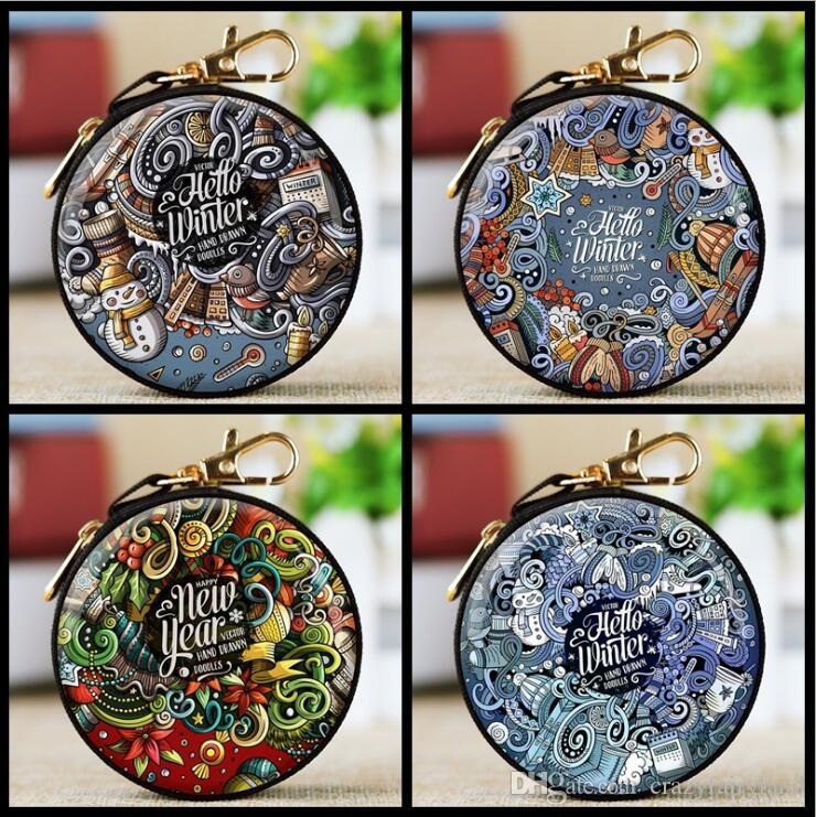 Baroque Christmas Mini Zipper Earphone Headphone Storage Bag Box ...