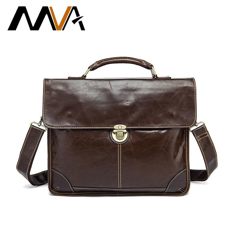 552ee2d15a MVA Brand Leather Man Bags Top Layer Leather Men s Briefcase Handbag ...