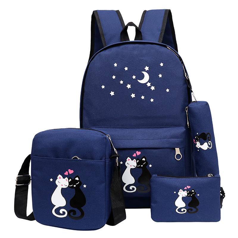 Women Backpack Schoolbag Korean Rucksack Cut School Bags For Teenager Girls  Student Bag Set Canvas Backpacks Swissgear Backpack Swiss Backpack From  Murie 96c68bcabbed8