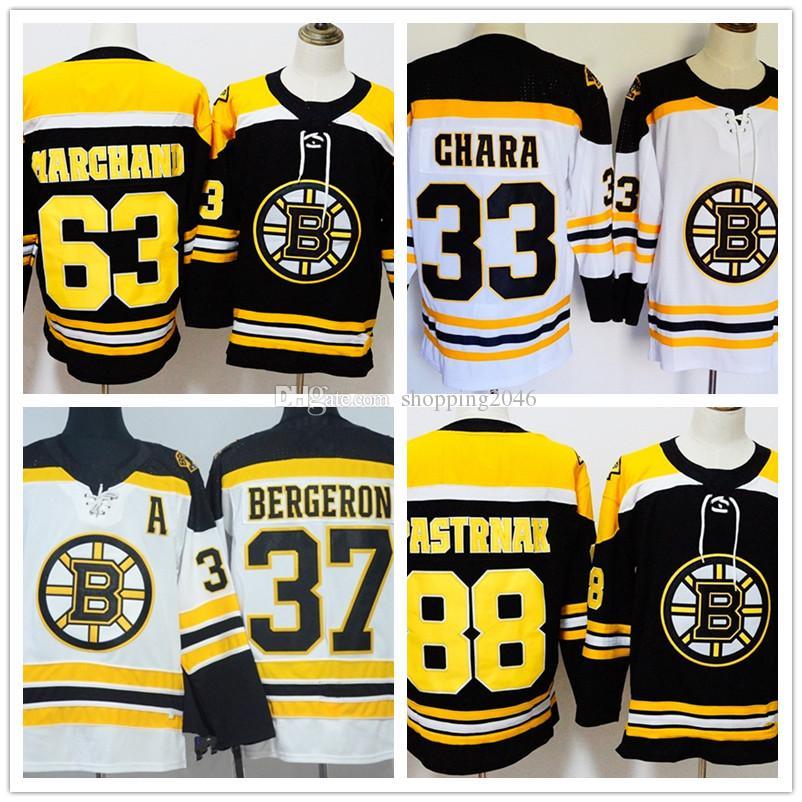 Men s Boston Bruins 37 Patrice Bergeron 63 Brad Marchand 88 David ... 265cb7677