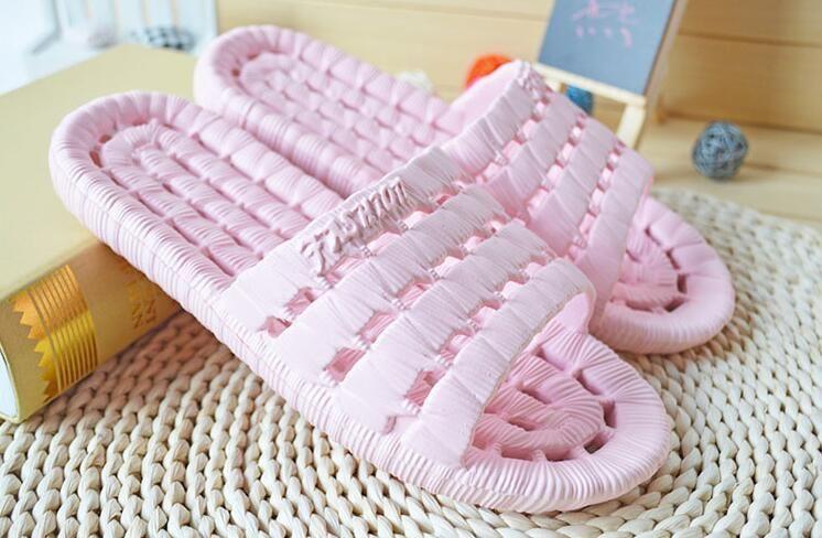 Big Size 2018 Quick Dry Water Leak Antiskid Bathroom Slippers Twist Design Indoor Soft Sandals Boys Girl Flops Shoe #28