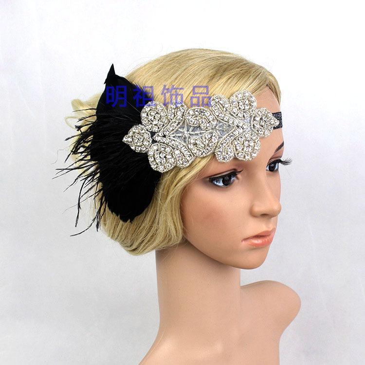 cebca637472d1 2019 Flapper Rhinestone Gatsby Headband Wedding Hairpiece Great Gatsby  Crystal Bridal Hair Jewelry 1920s Hair Accessories From Atunice
