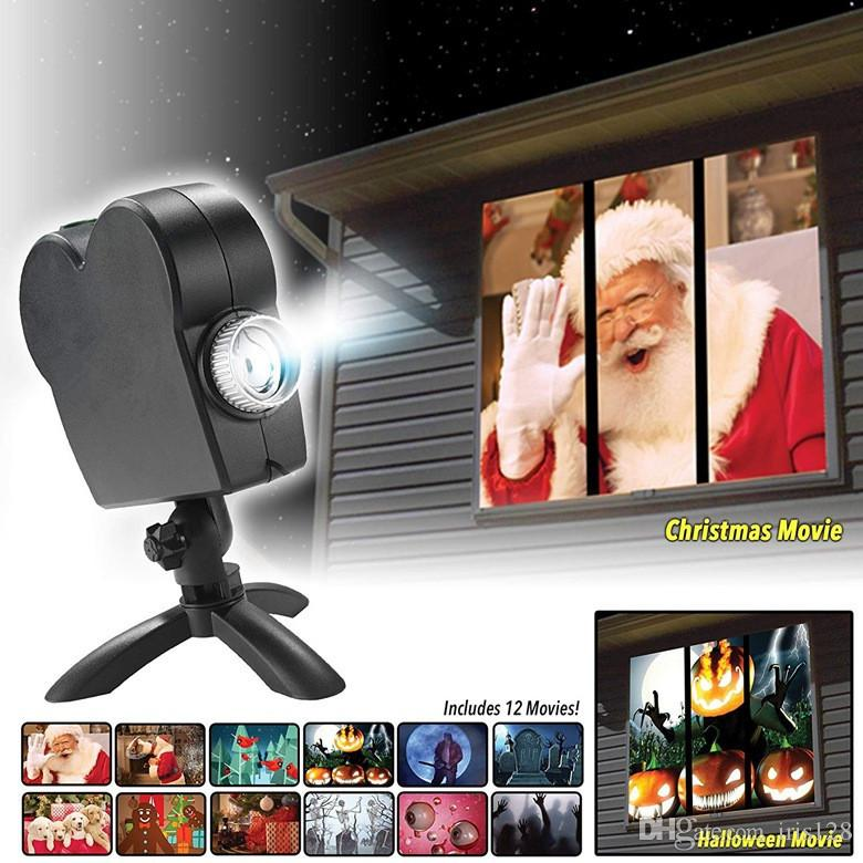 christmas halloween led window movie display projector effect light 12 movies showing on window perfect for holiday decoration stage lights for sale stage