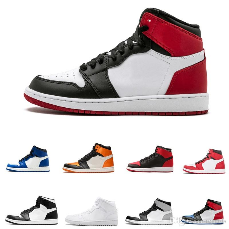 13f7468025fd 2019 2018 Mid OG 1 Top 3 Men Basketball Shoes 1s Homage To Home Banned Bred  Chicago Royal Blue Shattered Backboard Pass The Torch Sports Sneakers From  ...