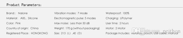 Nalone High Quality Electromagnetic Pulse Waterproof Massager Sex Toys,Double Motor AV Wand Vibration Sex Products for Woman