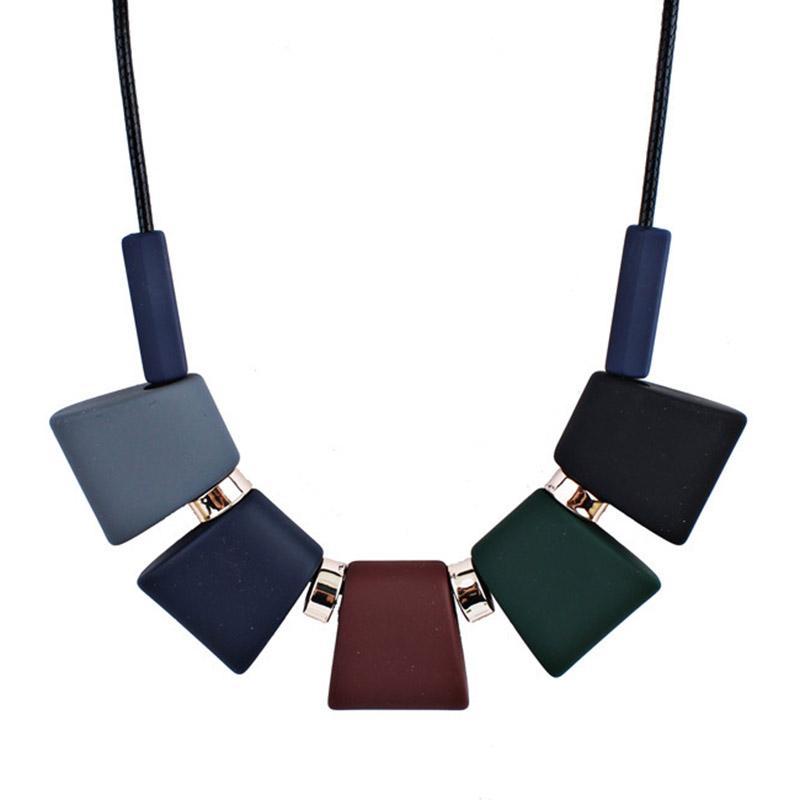 ROXI женщины ожерелье заявление свитер цепи ожерелья подвески красочные бусины колье Ожерелье для женщин колье Femme ювелирные изделия