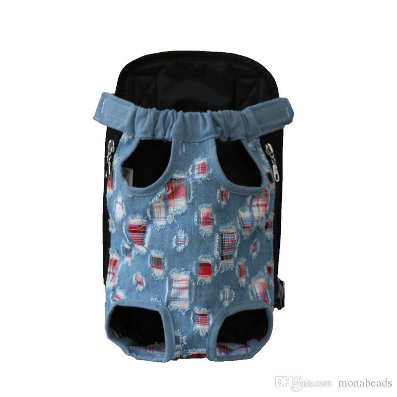 Portador de perro portátil Mochila de malla Camuflaje Bolsas de viaje para perros de colores Transpirable Hombro Bolsas para mascotas para perros pequeños Chihuahua